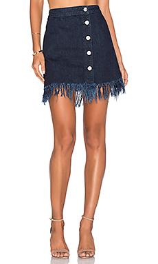 Asymmetrical Fringe Skirt en Chief