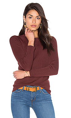 Rib Crew Neck Sweater – Rootbeer