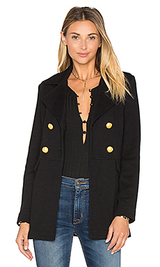 Double Breast Peacoat in Black