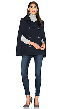 Poncho Peacoat in Classic Navy