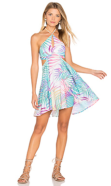 Beach House Dress in Royal Palm