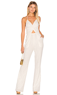 Globetrotter Lace Jumpsuit in Moonlight White