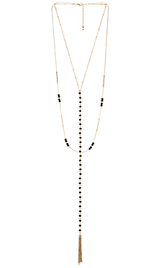 Andrea Rosary Necklace in Gold & Black