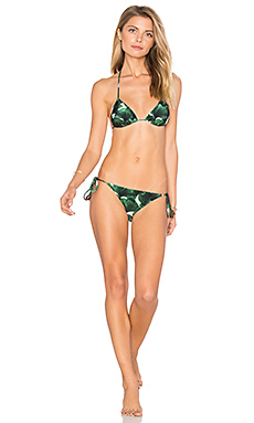 Ginkgo Triangle Tie Bikini Set en Bonsai Green