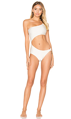 One Shoulder Mandala Swimsuit – Ivory