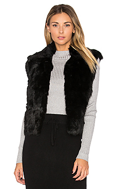 Rabbit Fur Vest – 黑色
