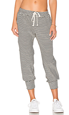 Varsity Stripe Pant en Black & White