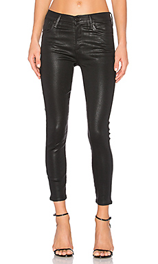 Sophie High Rise Crop in Black Leatherette