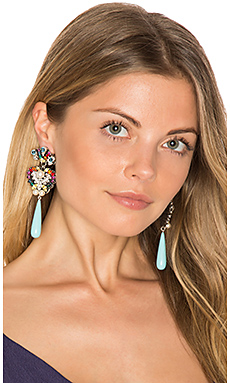 Crystal Drop Earring – Turquoise & Rainbow Multi