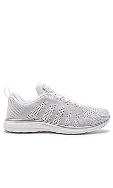 TechLoom Pro Sneaker en Blanc & Argent