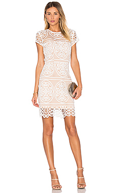 Blackjack Embroidered Mini Dress in White