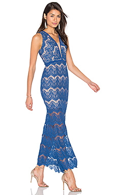 Loyola Lace Maxi Dress in Moroccan Blue