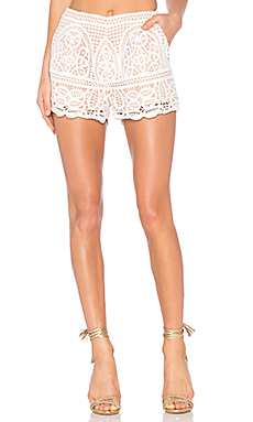 Blackjack Embroidered Shorts en Blanc