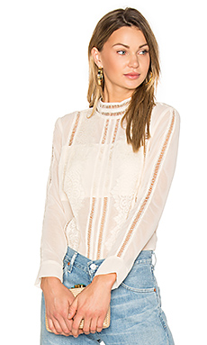 Karmel Lace Shirt in Nude