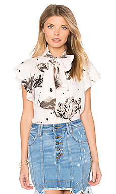 Leonor Top en Brushed Tulip Print