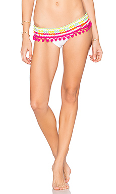 Astral Nomad Skirtkini Bottom en White & Sorbet