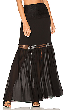 x REVOLVE Virginia Skirt en Black Night