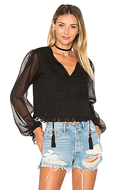 x REVOLVE Micaela Blouse – Black Night