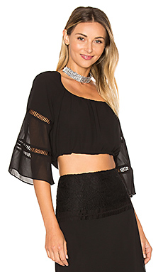 x REVOLVE Virginia Top en Black Night