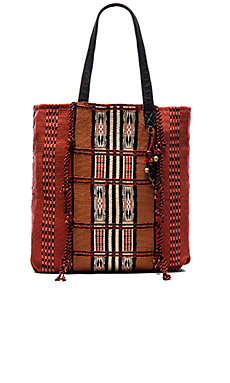 Moab Tote Bag in Terra Cotta & Black