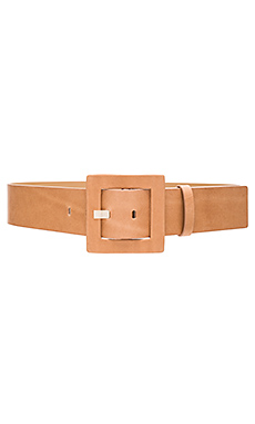 Square Buckle Belt en Naturel
