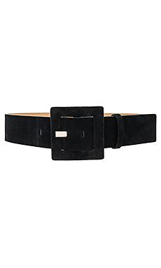 Square Buckle Belt en Noir