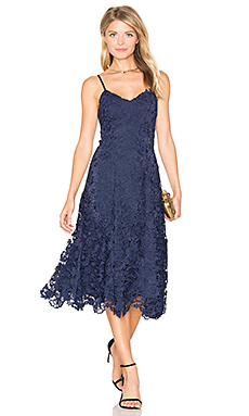 Naomi Flare Dress in Sapphire