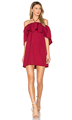 Jada Caped Dress – Bright Bordeaux
