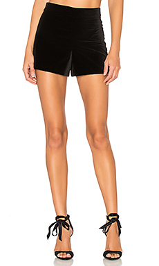 Marisa Back Zip Shorts in Black