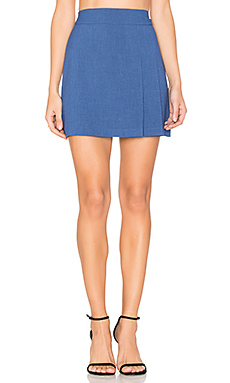 Bianka Side Pleat Mini Skirt en Cobalt Intense