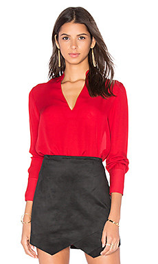 Daina High Low Blouse in Ruby