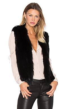 Short Collared Rabbit Fur Vest – 黑色