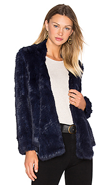 Lapel Rabbit Fur Jacket – 墨色
