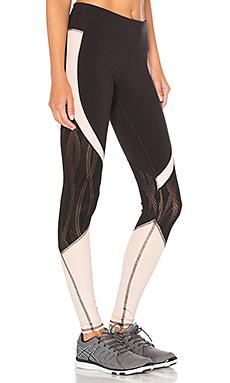 Vitality Legging en Black & Buff Glossy