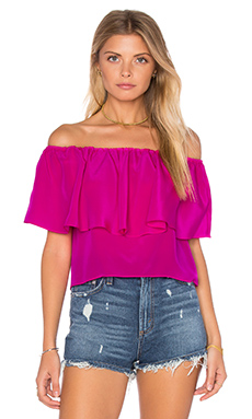 Kiara Top in Hot Pink Light