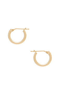 14K Hoop Earrings en Or