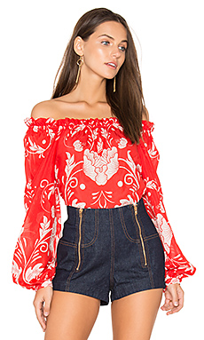My Sweet Lord Blouse en Scarlet Bloom