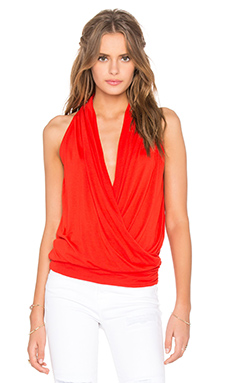 Agnes Top in Fiery Red