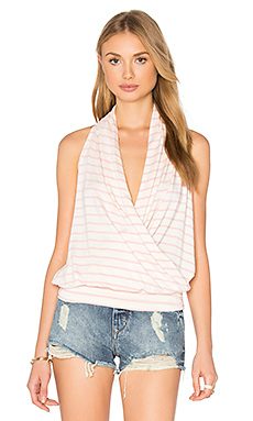 Agnes Top in Rose Stripe