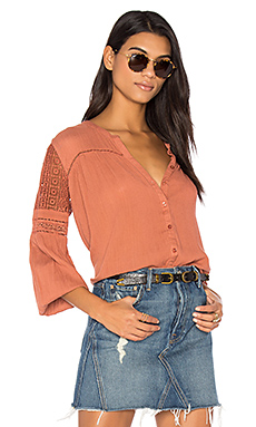Crawford Woven Top in Tobacco