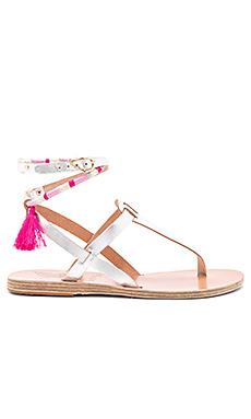 x lemlem Estia Wrap Sandal – 银色&粉色