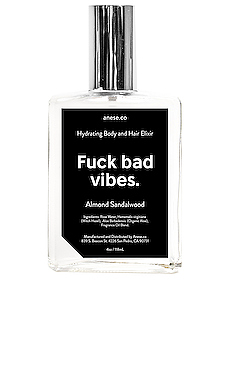Fuck Bad Vibes Hydrating Body & Hair Elixir en Almond Sandalwood