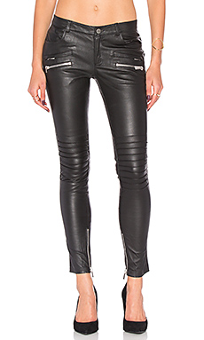 Biker Leather Pant in Black