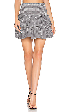 Striped Silk Skirt – 黑色