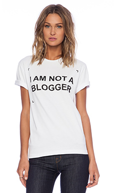Fashion Circus Not A Blogger T-Shirt in White
