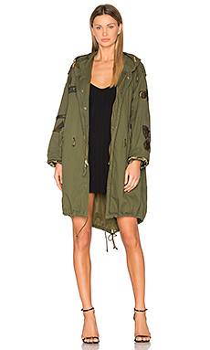 Military Vintage Patch Parka en Kaki