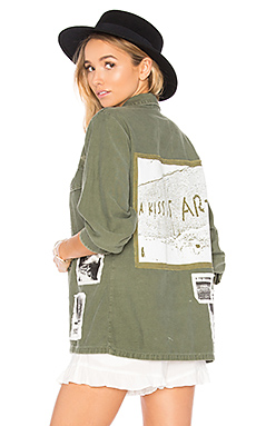 Military Vintage Shirt in Army Green