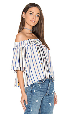 Esme Top en Cream Cool Stripe