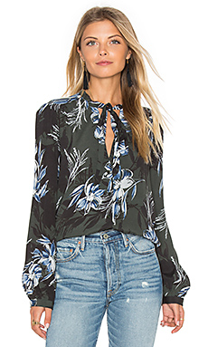 Estelle Top in Green Blue Floral