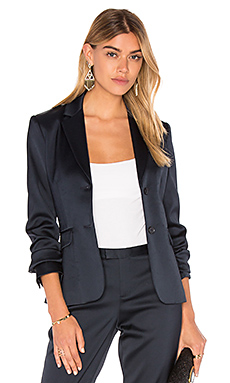 Stretch Satin Blazer en Midnight